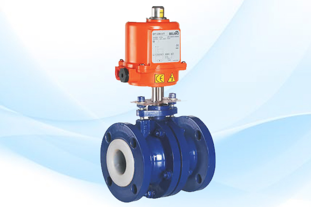 Fluoropolymer Lined Actuated Valves